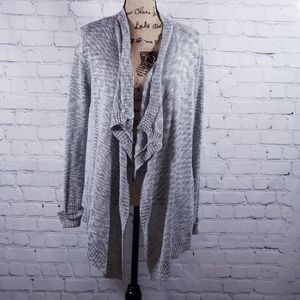 Pink Republic gray open front cardigan